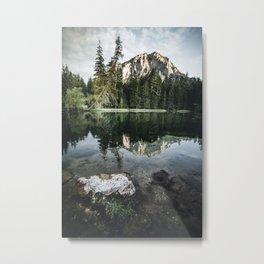reflecting Mountain in Styria Austria Metal Print