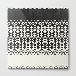Sollia in Black and White Metal Print