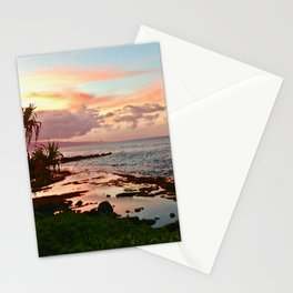 Sunset in Paia Stationery Cards