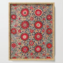 Karabag Suzani Uzbekistan Embroidery Print Serving Tray