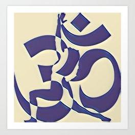 Abstract Yoga Art Design Art Print