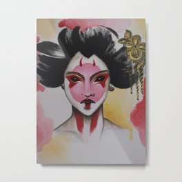 Ghost in the shell Geisha Metal Print