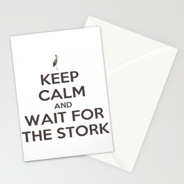 Keep Calm And Wait For The Stork Baby Delivery Stationery Cards