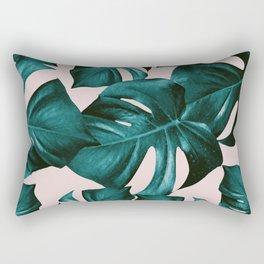 Monstera Leaves Pattern #4 #tropical #decor #art #society6 Rectangular Pillow