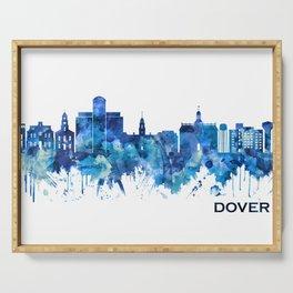 Dover Delaware Skyline Blue Serving Tray