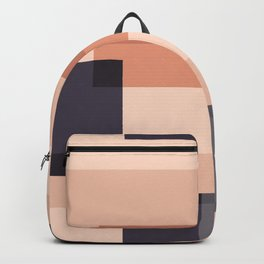 Overlay in Peach and Black Backpack