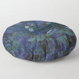 Blue Water Lilies Monet 1916- 1919 Floor Pillow