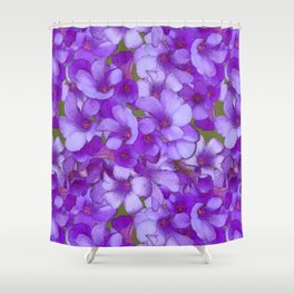 Purple Oxalis Shower Curtain