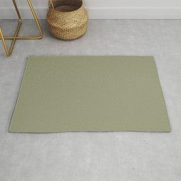 Neutral Earth Tones - Natural Stone Green-Beige / Light Khaki Color - Leaves / Plants / Earthy / Nature Rug