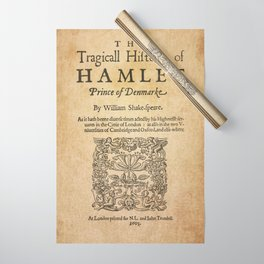Shakespeare, Hamlet 1603 Wrapping Paper