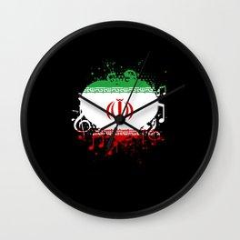 Iran Music Flag Wall Clock