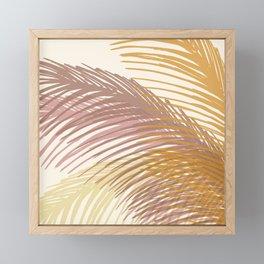 Autumn Palms / Tropical Plant Design Framed Mini Art Print