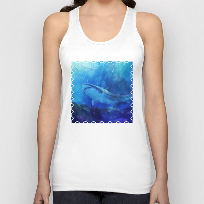 Make Way for the Great White Shark King  Unisex Tanktop