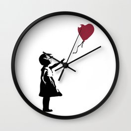 Girl With Red Balloon, Banksy, Streetart Street Art, Grafitti, Artwork, Design For Men, Women, Kids Wall Clock