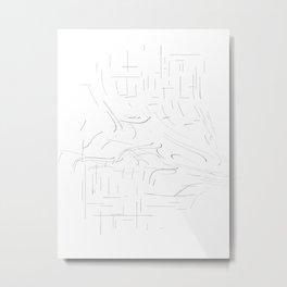 waved lines Metal Print