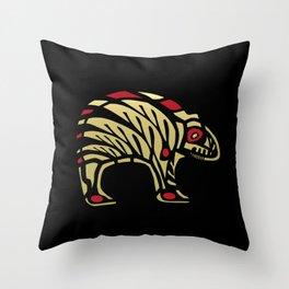 Tribal Black and Gold Bear Symbol Throw Pillow