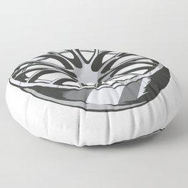 Car Wheels Chrome Floor Pillow