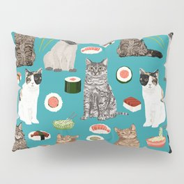 Cat breeds pure bred cats sushi kawaii pet gifts cat person must haves Pillow Sham