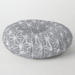 Japanese Tie Dye in Pebble Floor Pillow