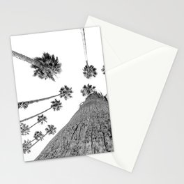 {2 of 2} Hug a Palm Tree // Tropical Summer Black and White Sky Art Print Stationery Cards