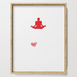 This New York Girl Loves Yoga Discipline Meditation Indoors Serving Tray