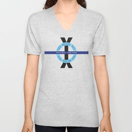 """YES means YES - ROUND – SB 967 – California's so-called """"yes means yes"""" law Unisex V-Neck"""