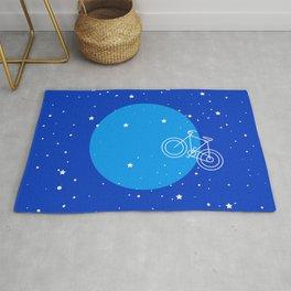 Night Sky Moon Bike  Rug