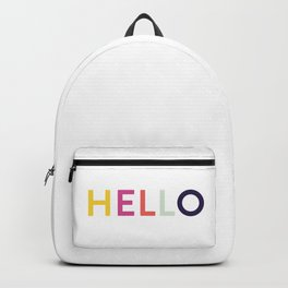 Hello, Hi, Namaste, Great Day. Backpack
