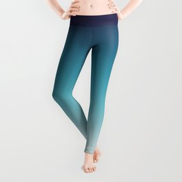 Blue White Gradient Leggings