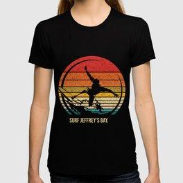Vintage Surf Jeffrey's Bay Retro Surfer Surfing T-shirt