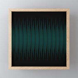 Linear Emerald Black Framed Mini Art Print