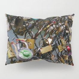 Love padlocks on Pont des Arts, Paris Pillow Sham