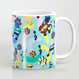 Nineties Jazz Cats Pattern Coffee Mug