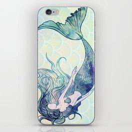 Watercolor Mermaid iPhone Skin