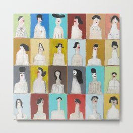 Treinta y Seis Mujeres Metal Print
