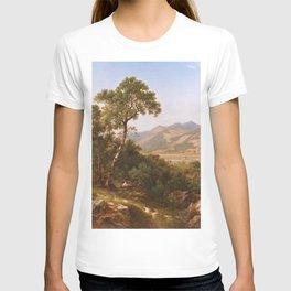 Scenery At Shelburne Vermont 1865 By David Johnson | Reproduction | Romanticism Landscape Painter T-shirt