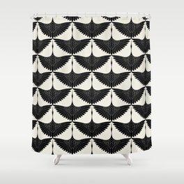 CRANE DESIGN - pattern - Black and White Duschvorhang