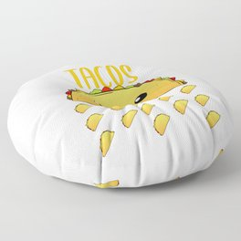 It's raining tacos mexican fast food Floor Pillow