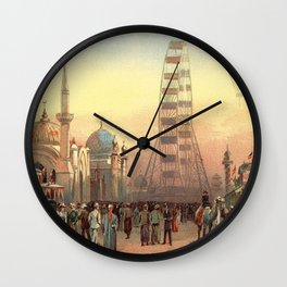 Ferris Wheel at Sunset in Chicago 1893 Wall Clock