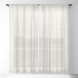 Minimal Line Curvature XI Sheer Curtain