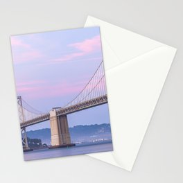 Bay Bridge at Dusk Stationery Cards