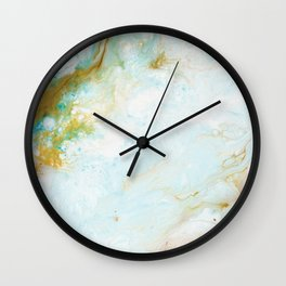 Dreaming of Golden Coast -  Abstract Fluid Painting Wall Clock