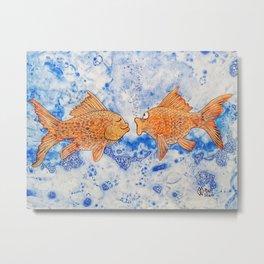 Goldfish Rendezvous  Metal Print