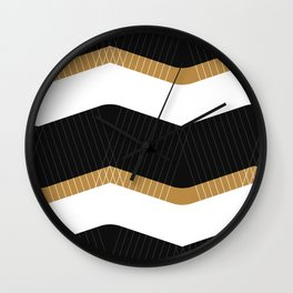 Crunchy Lines, No. 1 Wall Clock