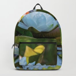 Water Water Lilies on Summer Pond Backpack