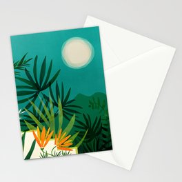 Tropical Moonlight / Tropical Night Series #1 Stationery Cards