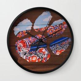 Clemson Tiger Paw Wall Clock