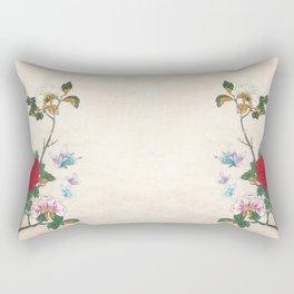 Minhwa: Peony and Butterflies Rectangular Pillow
