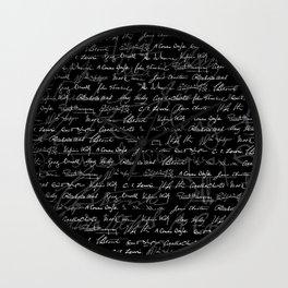 Literary Giants Pattern Wall Clock