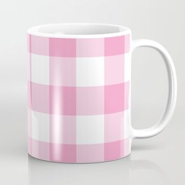 Light Pink Gingham Pattern Coffee Mug